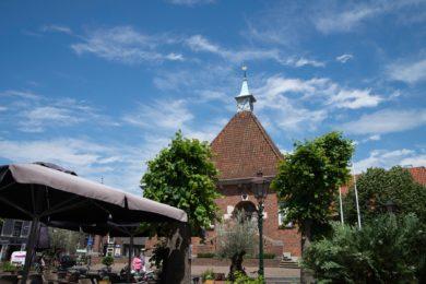 Oude dorpskern met oude Raadhuis